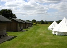 Cabins and bell tents